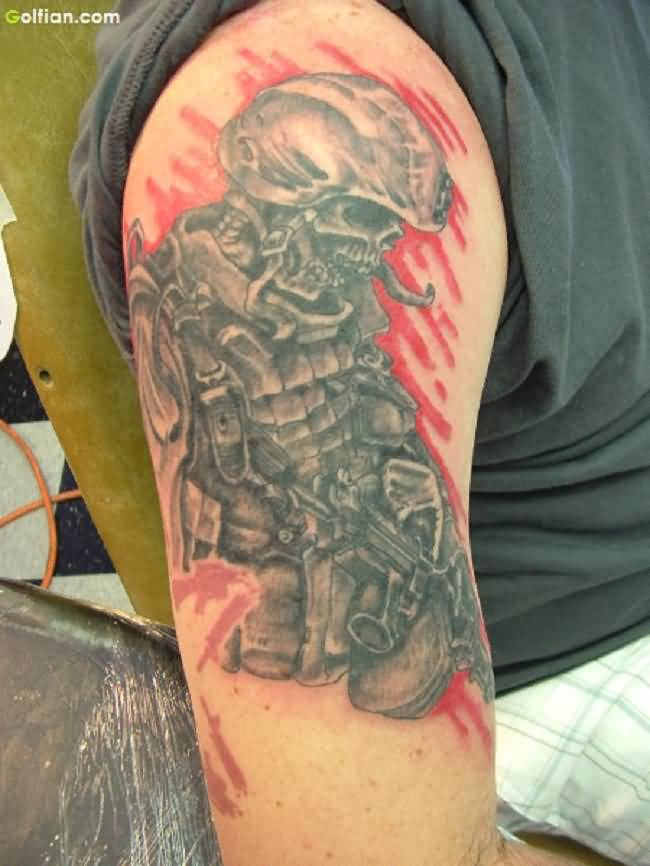 52 eye popping army tattoos designs in memory of war soldiers. Black Bedroom Furniture Sets. Home Design Ideas