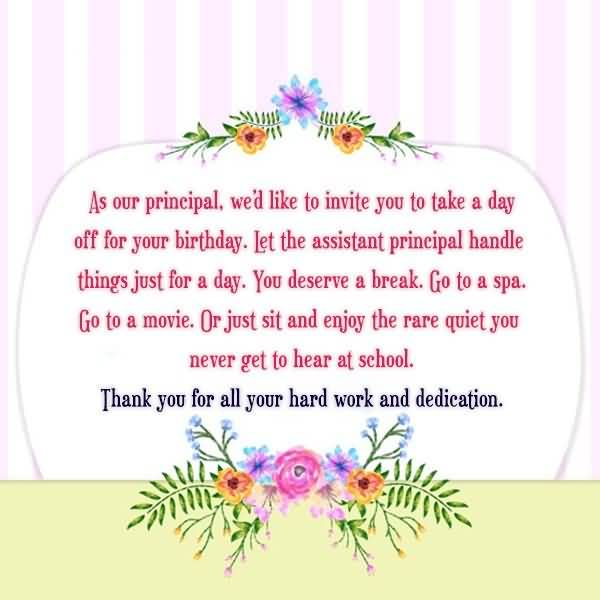 75 Awesome Birthday Greetings And Wishes Direct From Heart Happy Birthday Wishes To Principal