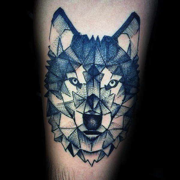 56 Stupendous Geometric Wolf Tattoos Designs That Looks