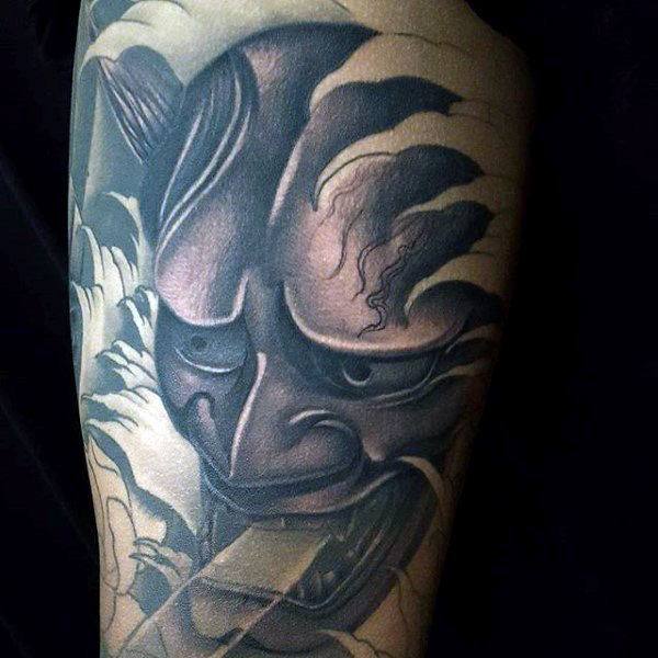 53 wonderful hannya mask tattoo designs made with amazing touch. Black Bedroom Furniture Sets. Home Design Ideas