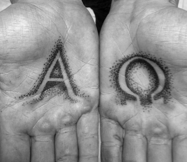 43 Fabulous Alpha Omega Tattoo Designs Made With Black & Grey Ink ...
