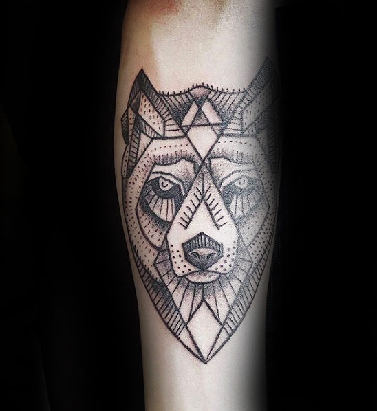 Modish Geometric Wolf Tattoo Parryzcom