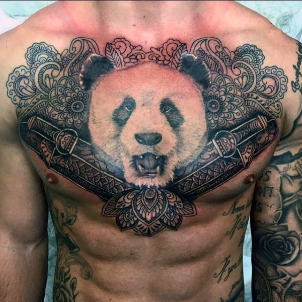 52 elegant panda bear tattoos designs you definitely love them all. Black Bedroom Furniture Sets. Home Design Ideas