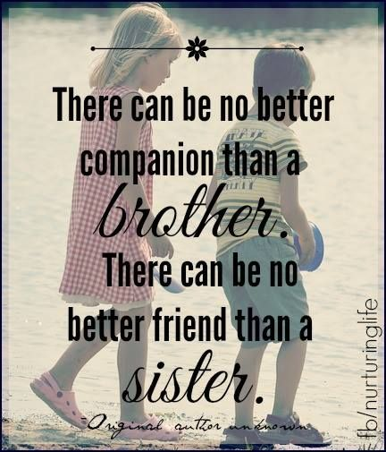 Attractive Brother Sister Quotes - Parryz.com