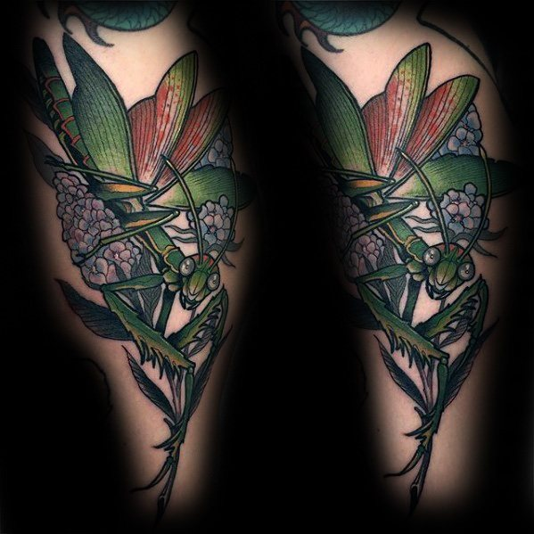 Cool Praying Mantis Tattoo Parryz Com