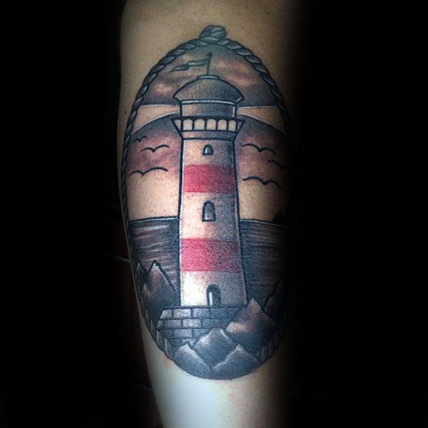 53 traditional lighthouse tattoo designs and ideas about lighthouse. Black Bedroom Furniture Sets. Home Design Ideas