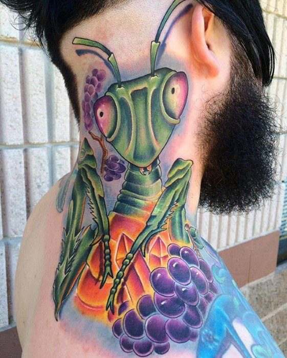 74 Popular Praying Mantis Tattoo Designs And Idea About Insects Parryz Com