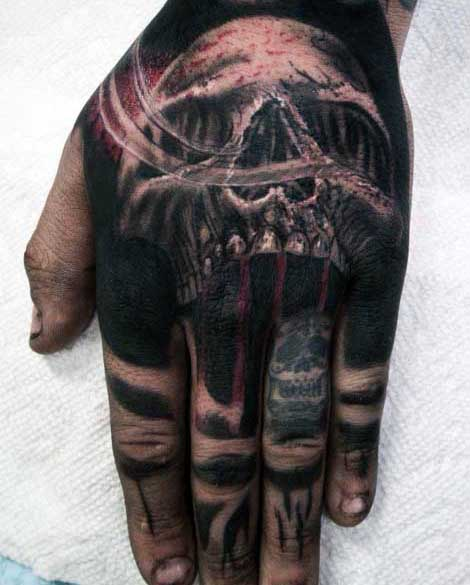 Superb Skull Hand Tattoo Parryzcom