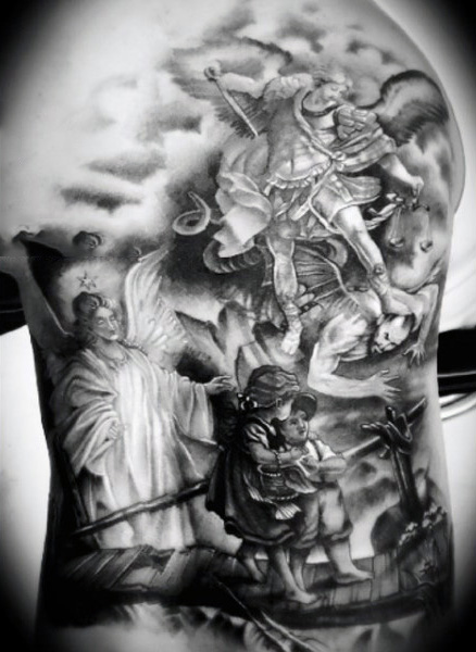 Guardian Angel Catholic Tattoos Sleeve Best Tattoo Ideas