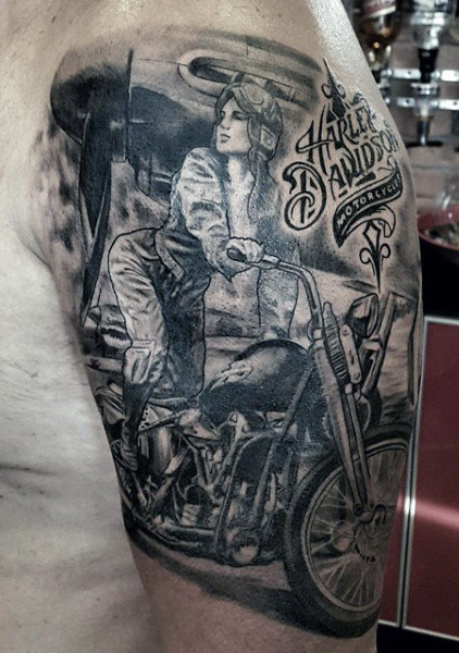 277 Selected Harley Davidson Tattoos - Parryz.com