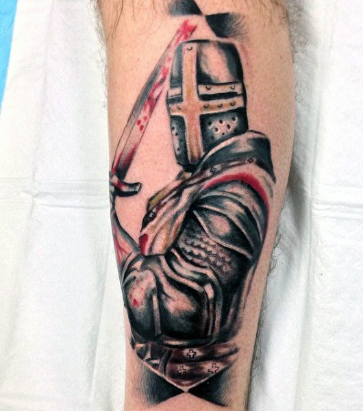 3d Knight Tattoo Idea
