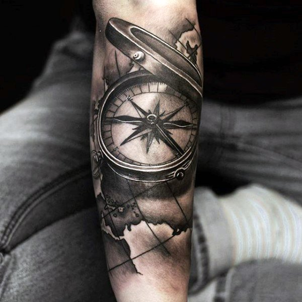 Compass Tattoo (253) - Parryz.com