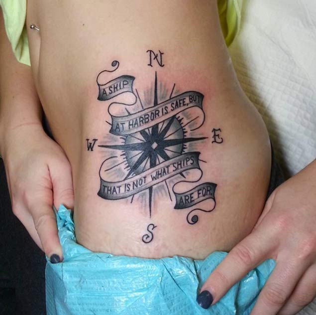 Compass Tattoo (345) - Parryz.com