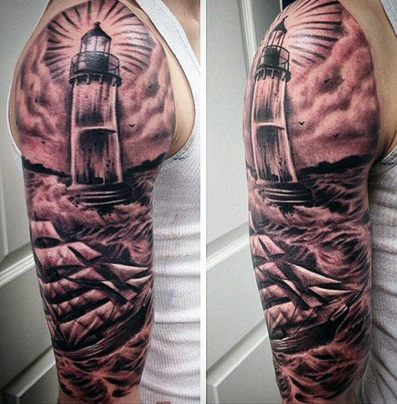 131 captivating lighthouse tattoos for classy men and