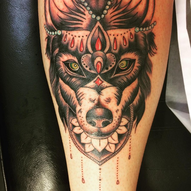 Lone wolf tattoos tribal