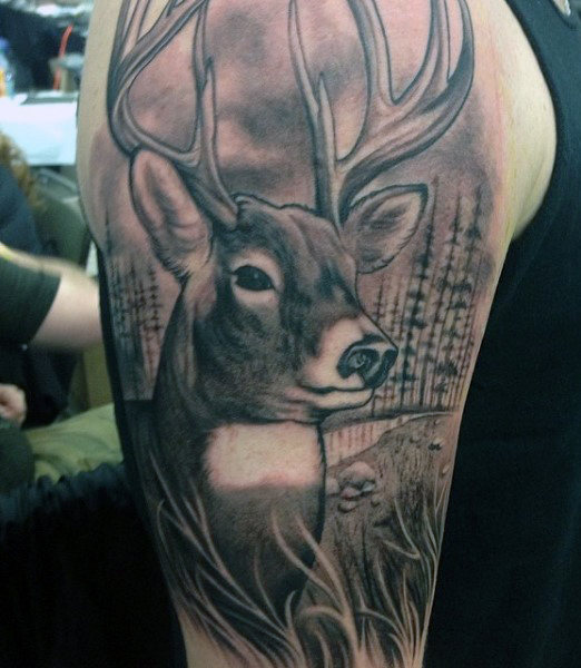 Awesome Deer Hunting Tattoo Parryz Com