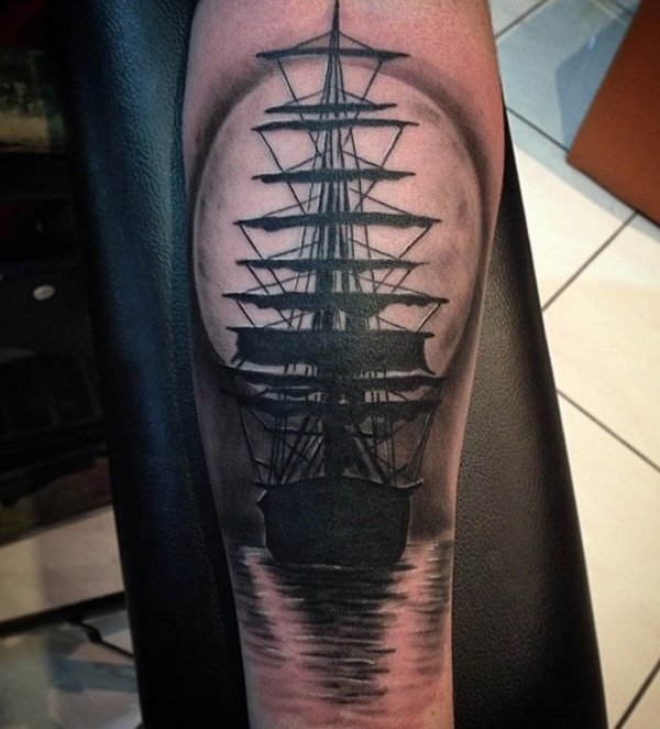 109 selected ship tattoos ideas with best art for Sinking ship tattoo