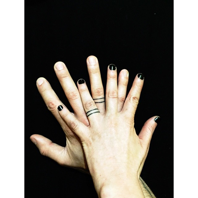 Tattoos Of Wedding Rings Tattoo Engagement Ring With Tattoos Of