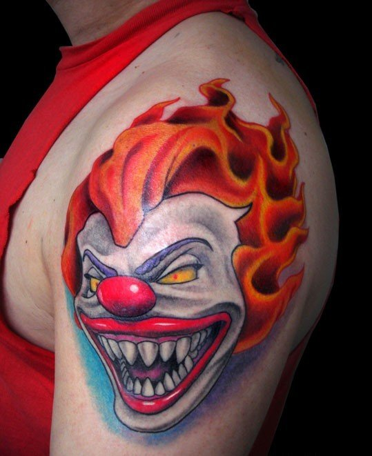169 Selected Scary Clown Tattoos Parryz Com