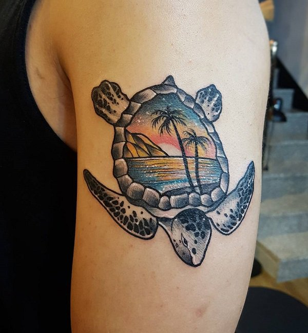 242 Superb Sea Turtle Tattoos - Parryz.com