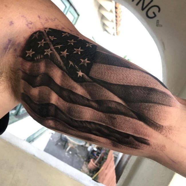 151 Perfectly American Flag Tattoos For Boys Who Love To ...