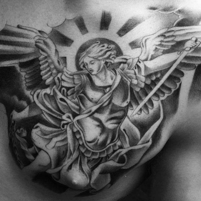 125 powerful guardian angel tattoos amp their meanings