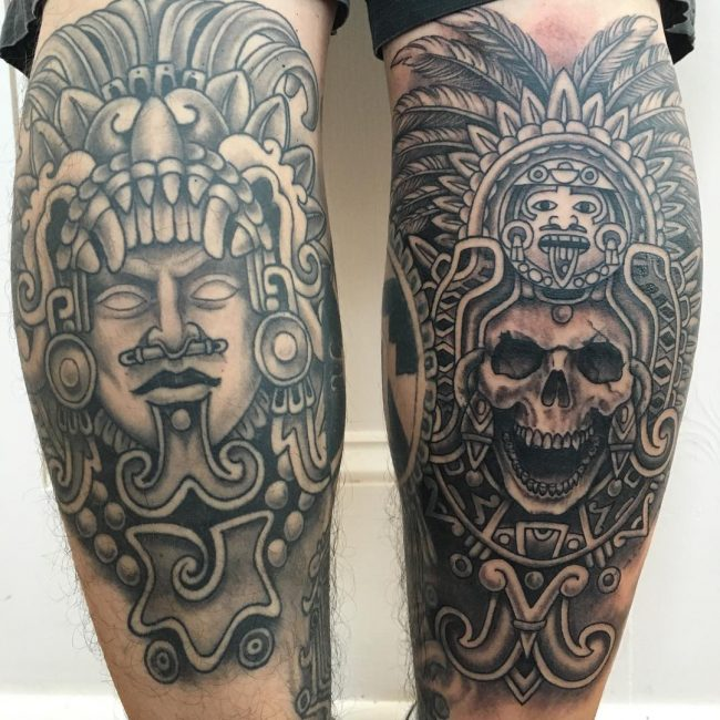 165 Remarkable Aztec Tattoo Designs With Meanings