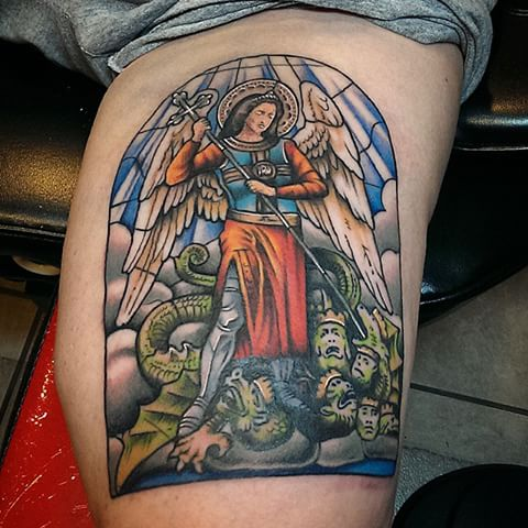 Guardian Angel Stained Glass Tattoo Parryzcom