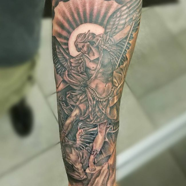 Gates Of Heaven Tattoo Forearm