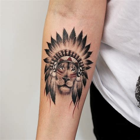 b6722109b One More Old School Lion Tattoo On Forearm - Parryz.com