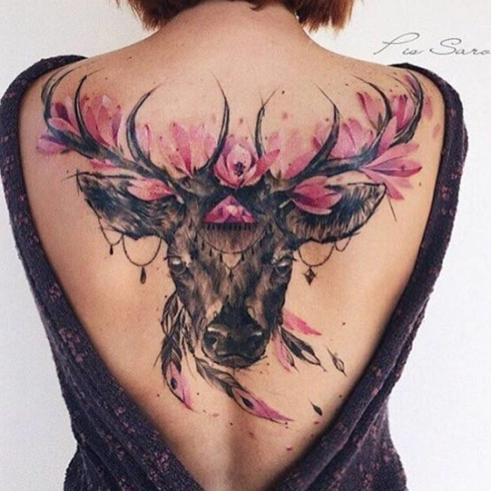 100+ Adorable Deer Tattoos Ideas & Designs - Parryz.com