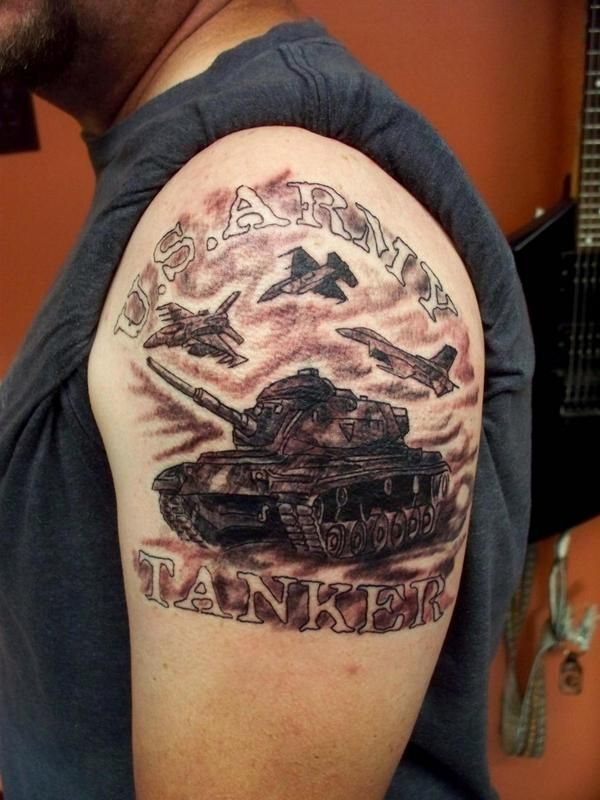 New Tank Of Army Tattoo For Upper Arm - Parryz com