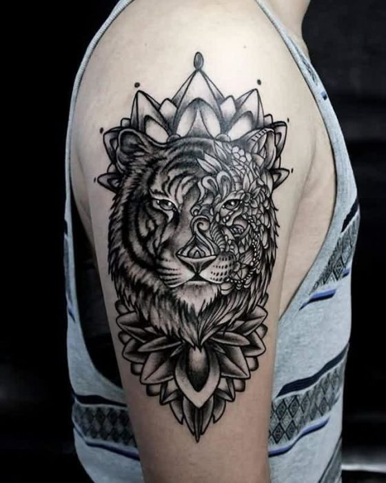 26 mandala tiger tattoos designs - Mandalas de tigres ...